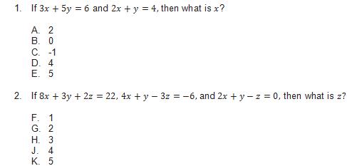 solve for the variable worksheet