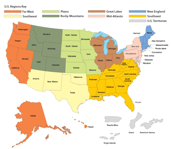 Search Colleges - Us map of colleges